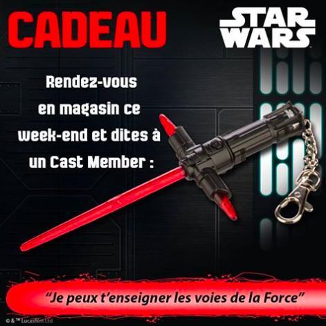 Porte-clef Star Wars offert