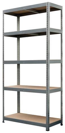 Étagère bois metal - 180x90x40cm