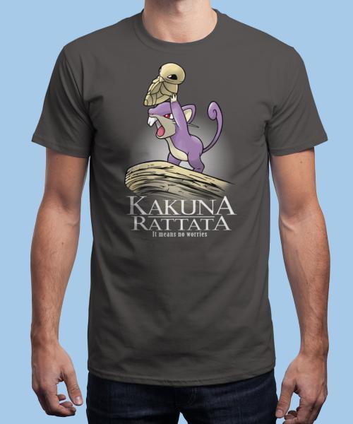 Sélection de Tshirts en promotion - Ex : Tshirt Kakuna Rattata