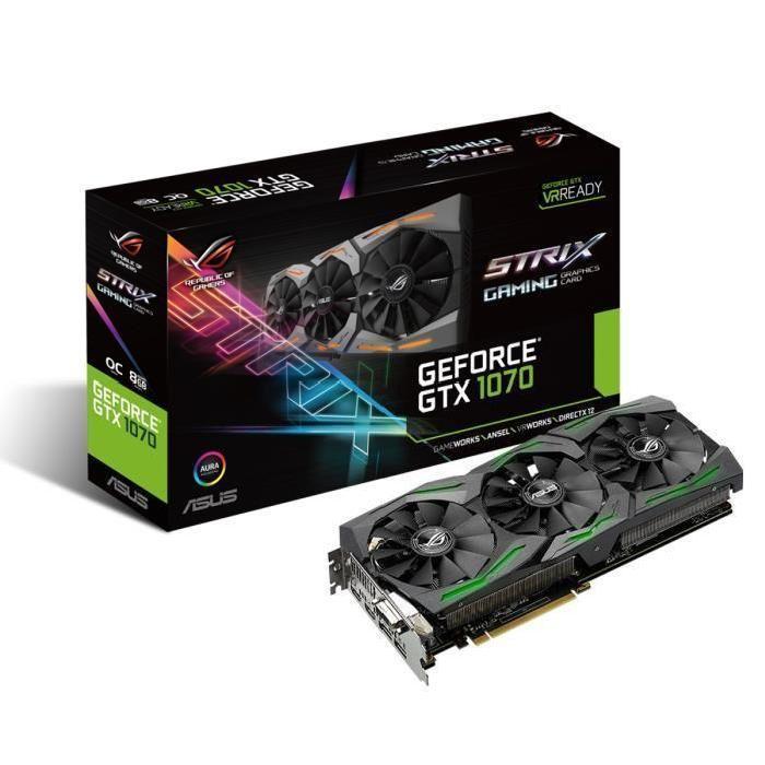 Carte Graphique Asus GeForce GTX 1070 STRIX 8Go