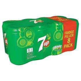 Pack 8 canettes de 7up citron - 8 x 33cl