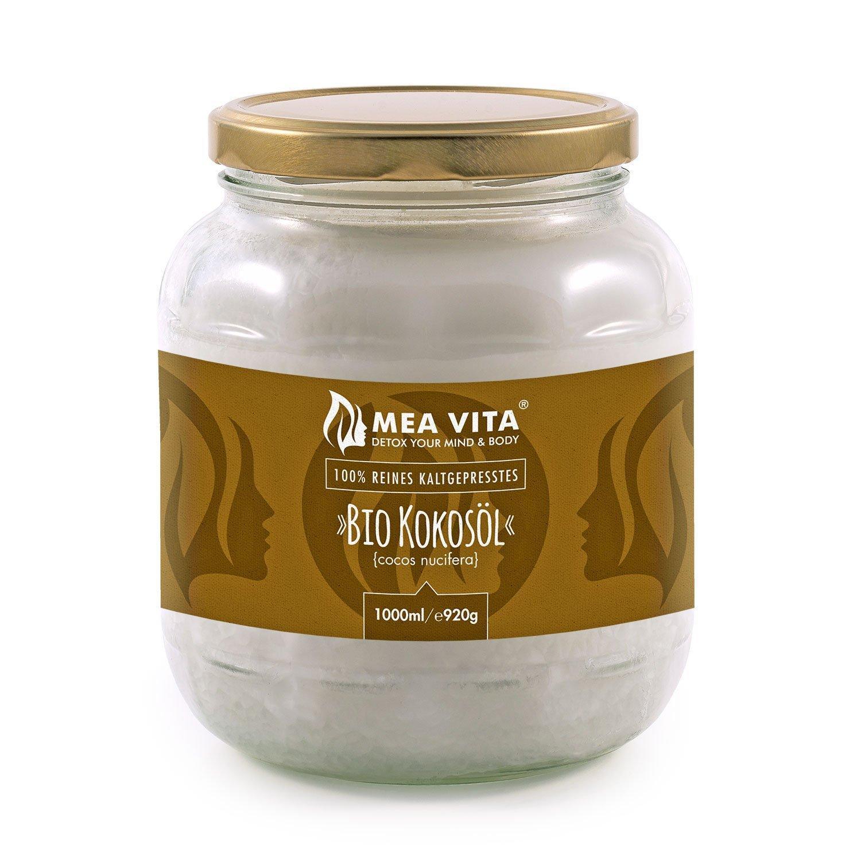 Huile de noix de coco biologique extra vierge MeaVita, 1L