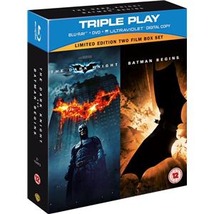 Coffret The Dark Knight et Batman Begins (Blu-ray + DVD + copie digitale UV)
