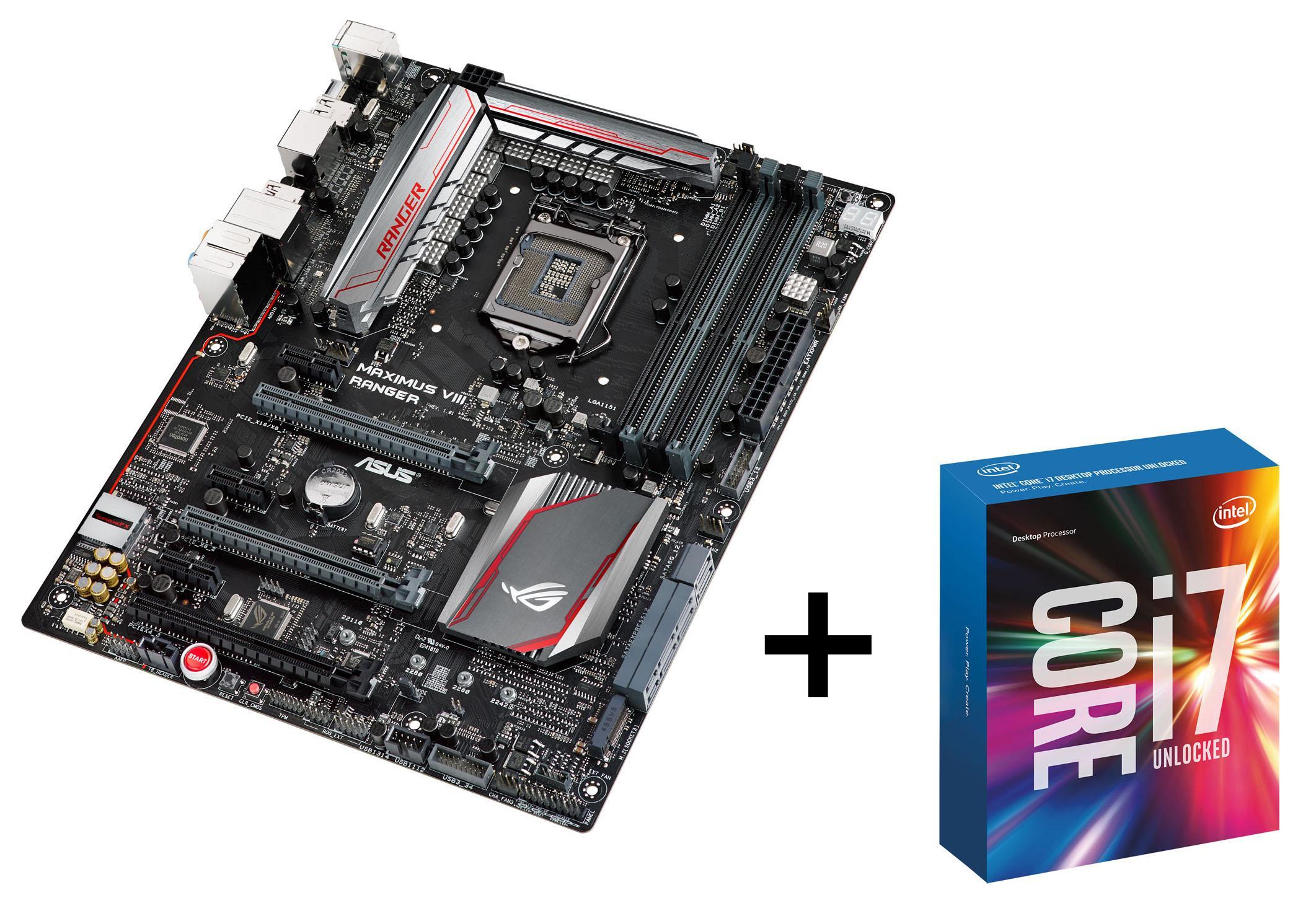 Pack carte mère Asus Maximus VIII Ranger + processeur intel Core i7-6700K (via ODR 150€)