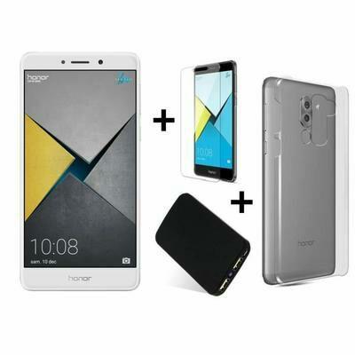 "Smartphone 5.5"" Honor 6X Pro Silver + coque + protection écran + batterie 3340mAh (via ODR 30€)"