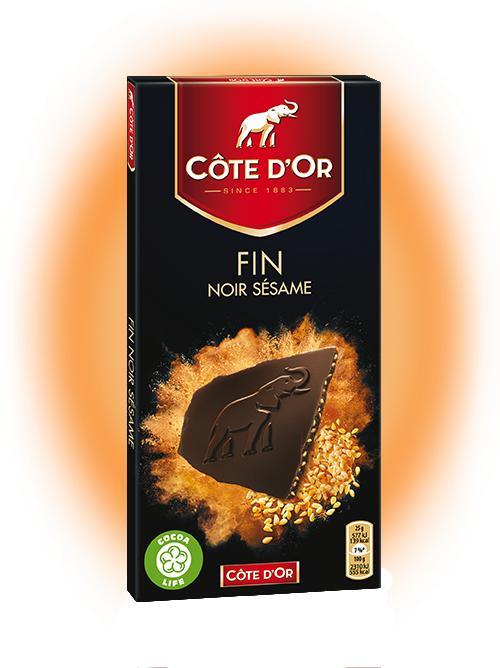 Promotion sur les lots de 2 tablettes de chocolat Côte d'Or - Ex: Chocolat noir Fin Sésame