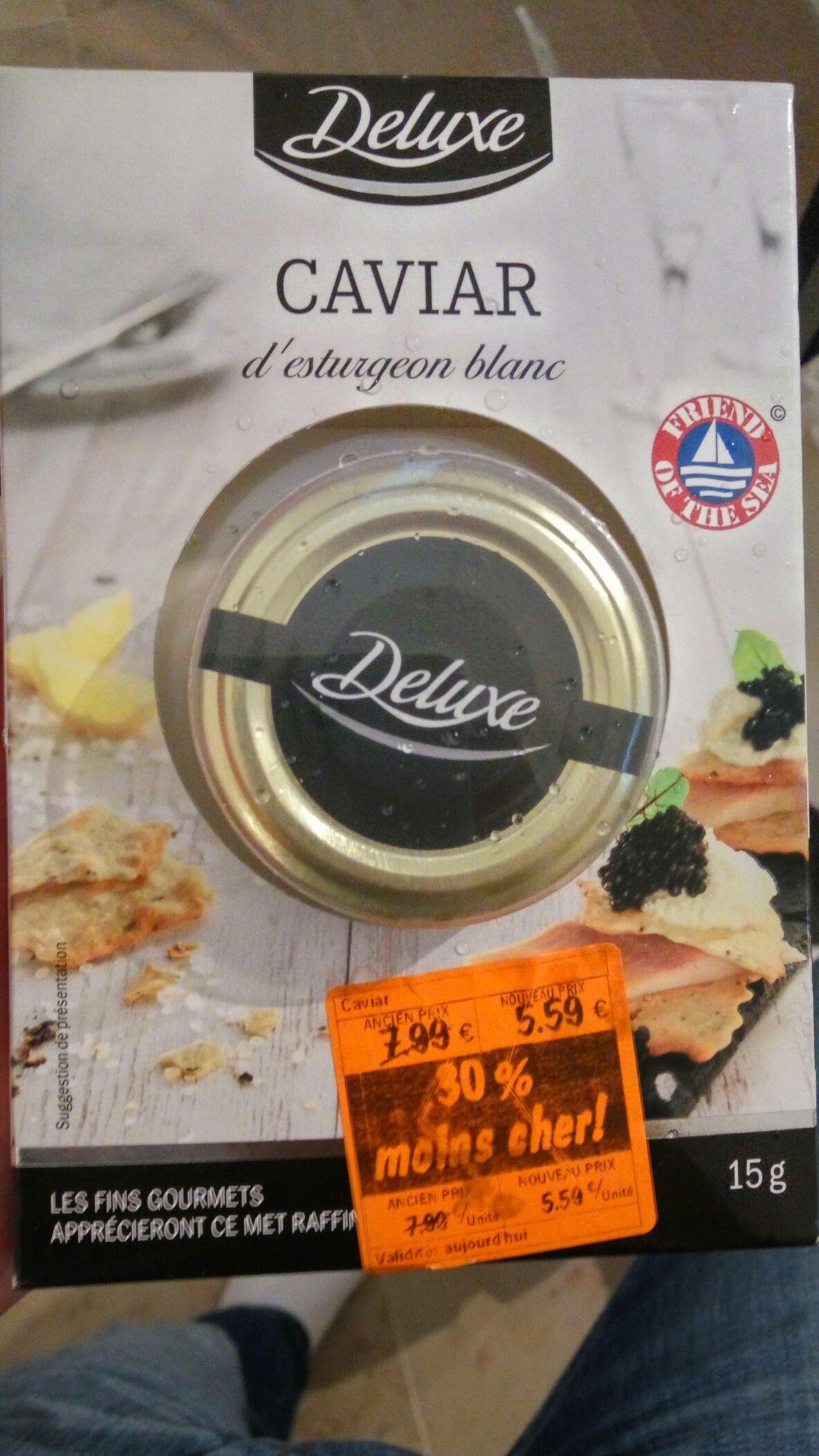 15g de caviar d'esturgeon