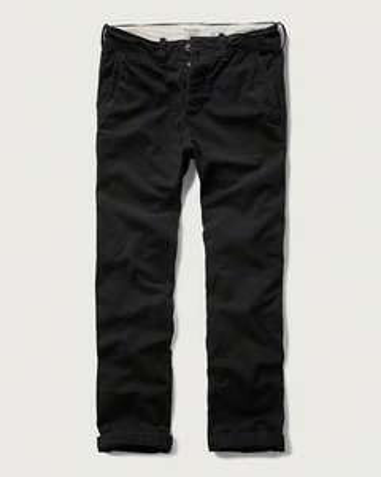 Pantalon chino Abercrombie - Noir
