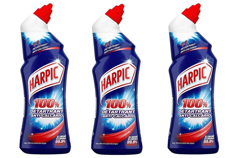 [Panier plus] Lot de 3 bouteilles Harpic 100% détartrant