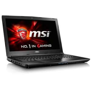 PC Portable Gamer 15,6'' MSI GL62 7RD-441XFR - Full HD, i5-7300HQ, RAM 8 Go, HDD 1 To, GTX 1050 2 Go, Sans OS