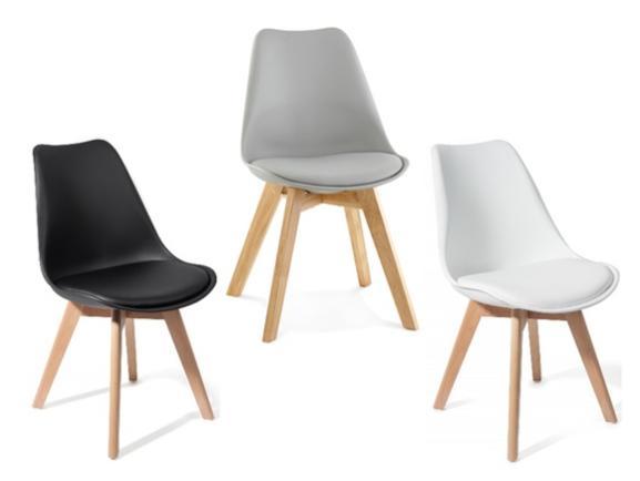 4 chaises scandinave Brekka - Coloris au choix