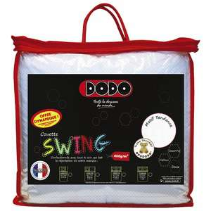 -50% sur les Couettes DODO SWING - Plusieurs tailles disponibles - Ex : 140x200 cm
