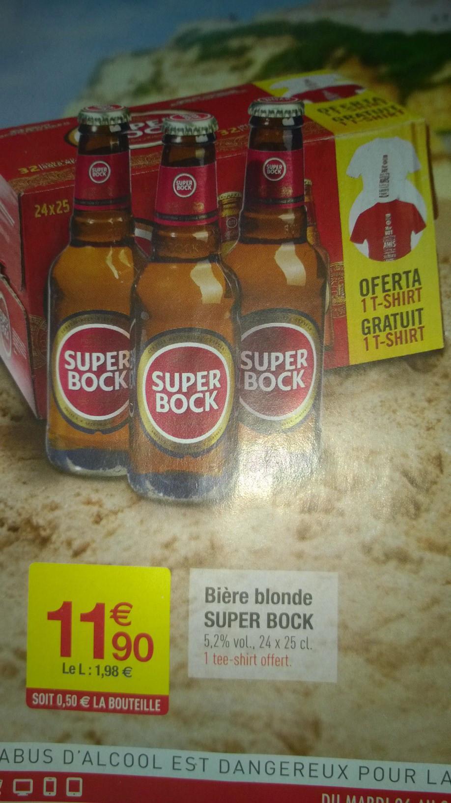 Pack de bières Super Bock 24x - 25cl + T-Shirt offert