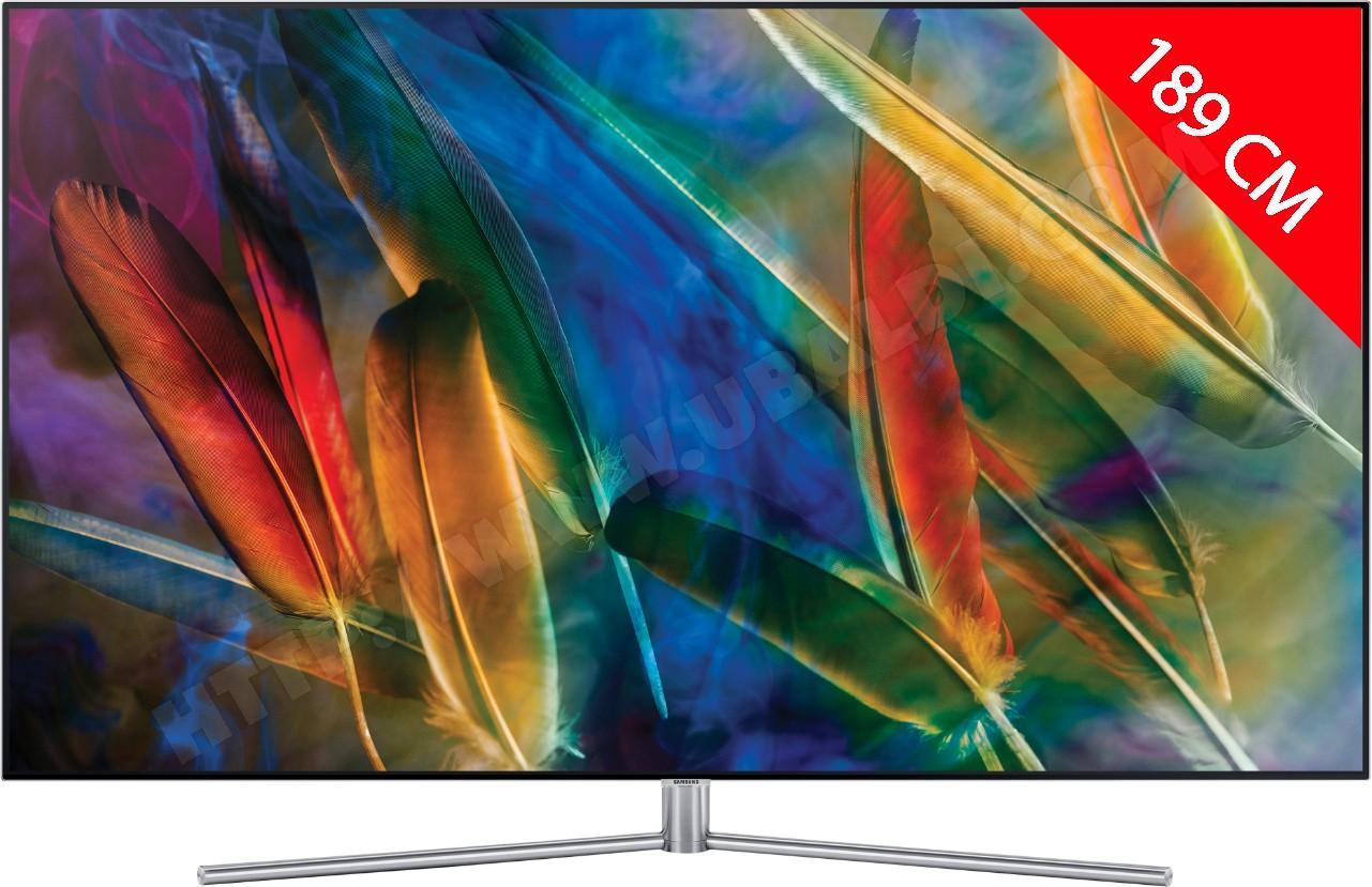"""TV 75"""" QLED Samsung QE75Q7F - Smart TV + garantie 5 ans(via odr de 1000€)"""