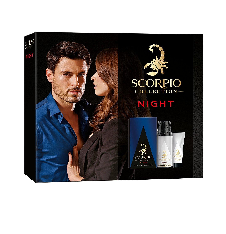 Collection Homme Night Scorpio - Eau de Toilette 75 ml + Déodorant Atomiseur 150 ml + Gel Crème Visage 50 ml