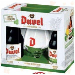 Coffret 2 bières Duvel Hop 33cl + verre 33cl