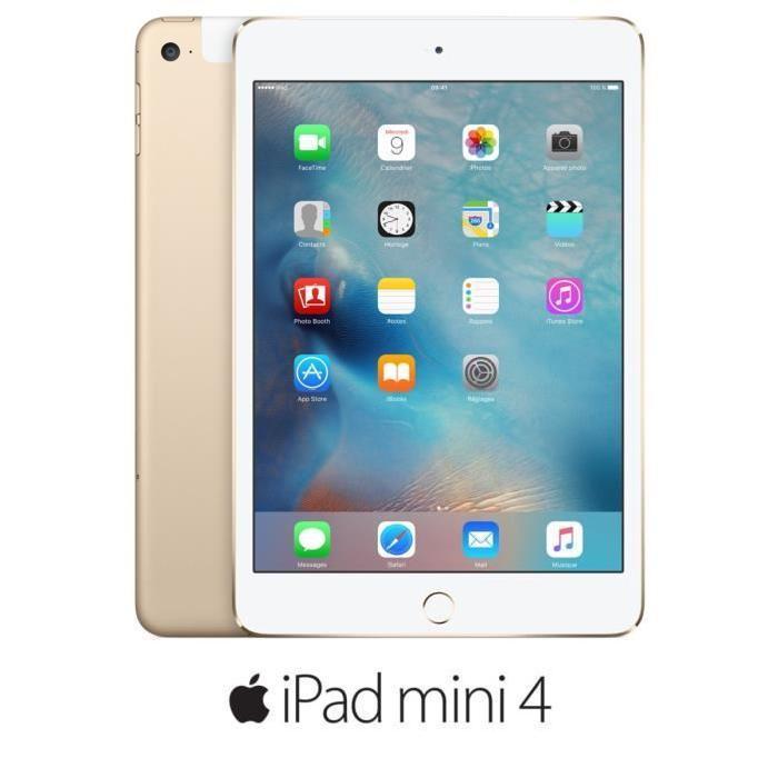 "Tablette 7.9"" Apple iPad Mini 4 - Wi-Fi + Cellular, 128 Go, Or"