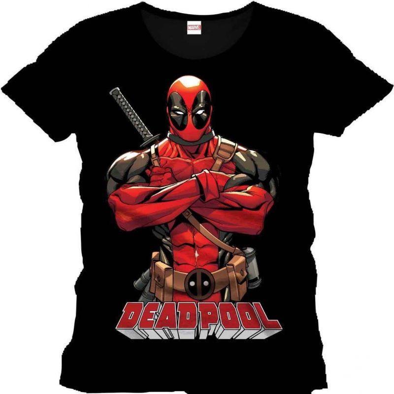 Sélection de T-shirt Sérigraphiés en promo - Ex : T-shirt 100% coton Sérigraphiés Marvel Deadpool