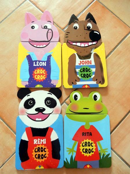 Livre animé pour enfant collection Croc Croc