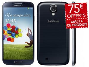 Smartphone Samsung Galaxy S4 16 Go (+ 75€ de bons d'achat valables dès 200€)
