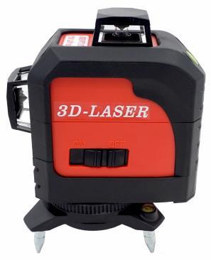 Niveau Laser Fukuda MW-93T 3D à 360° - Lignes Rouges