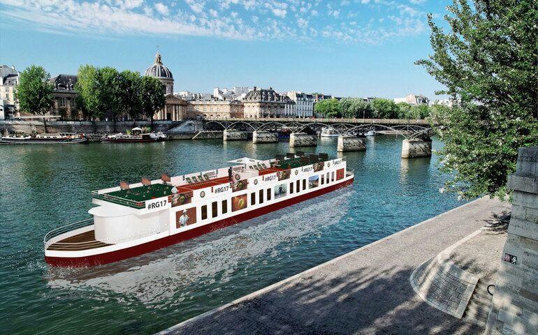 Jusqu'à 4 places gratuites pour une balade sur la Seine en péniche du 8 au 11 Juin 2017 - Boisson offerte + Retransmission du Tournoi sur TV
