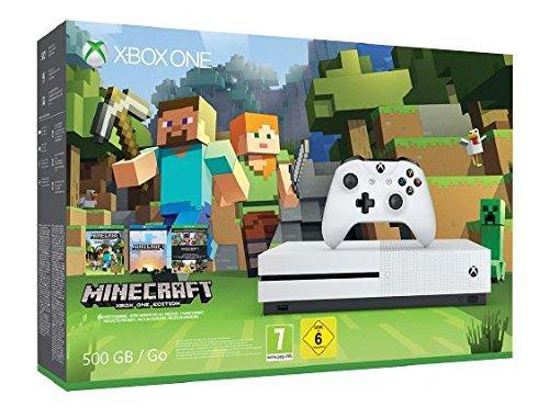 Console Microsoft  Xbox One S 500 Go + Minecraft