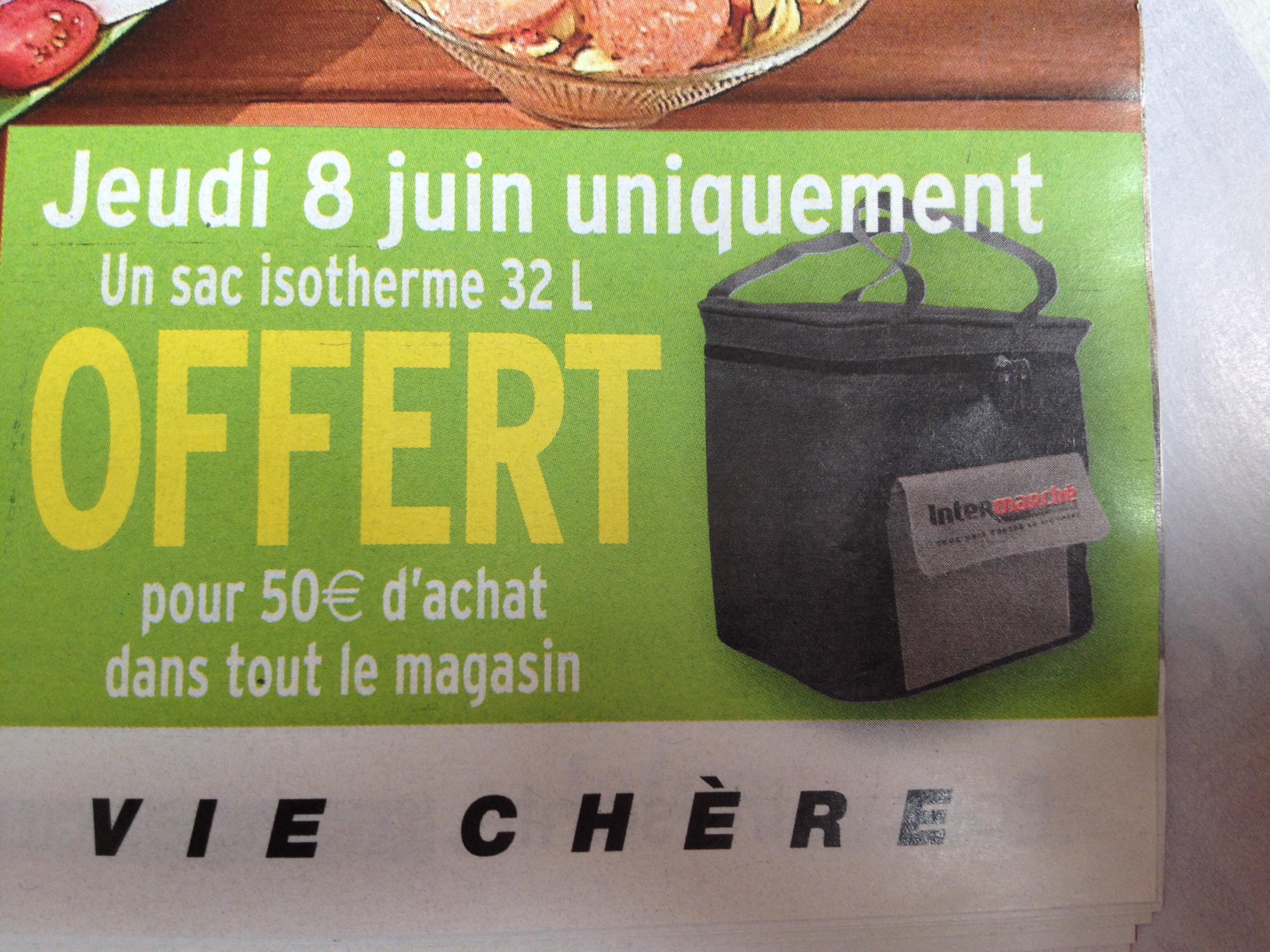 Un sac isotherme 32 L offert dès 50€ d'achat