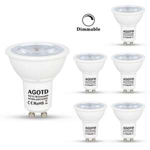 Lot de 6 Ampoules Agotd - GU10, LED, 7W, 230V