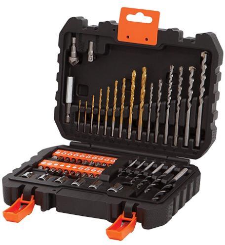 Coffret d'embouts  et de mèches pour visseuses et perceuses Black + Decker A7188  - 50 pièces