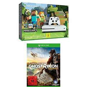 Pack console Xbox One S 500 Go Minecraft + Tom Clancy's : Ghost Recon Wildlands