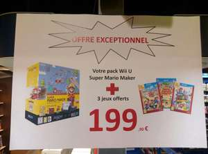 Console Nintendo Wii U Mario Maker Edition + Mario Party 10 + Amiibo Festival + SuperMario 3D World
