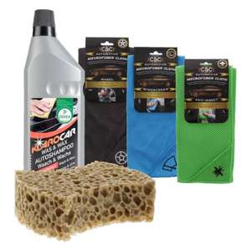 Nettoyant voiture ou  Autowax 1 litre ou éponge voiture ou chiffon nettoyant en microfibreà