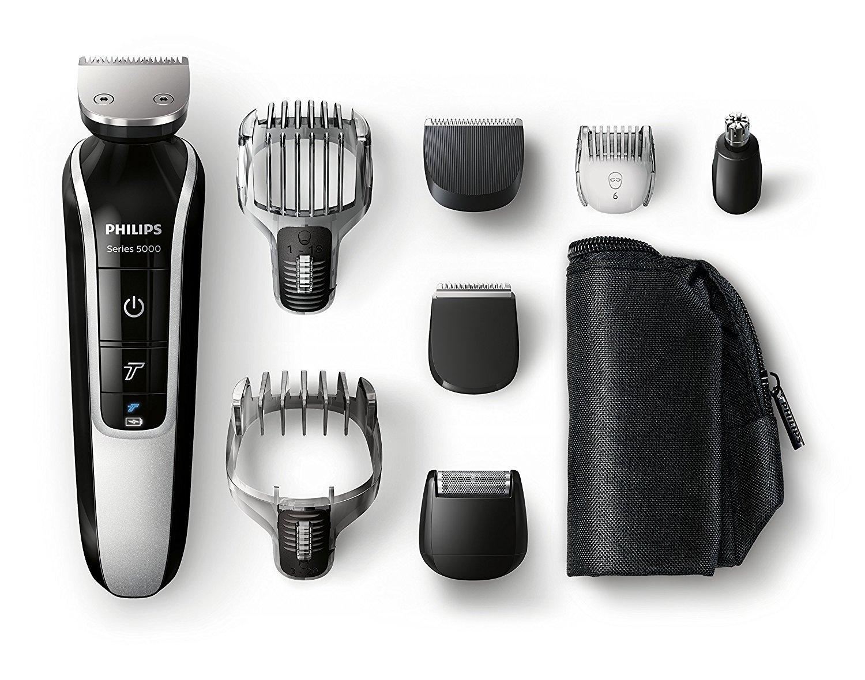 Tondeuse Multi-Styles Philips QG3371/16 Multigroom Séries 5000 - Visage & Corps, Waterproof, 8 en 1