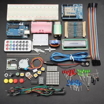 Lot de 37 Sondes à 7,99€ (Au lieu de 12,11€) & Kit de démarrage Geekcreit Arduino Uno R3 - 35 Pièces (Carte de développement incluse)