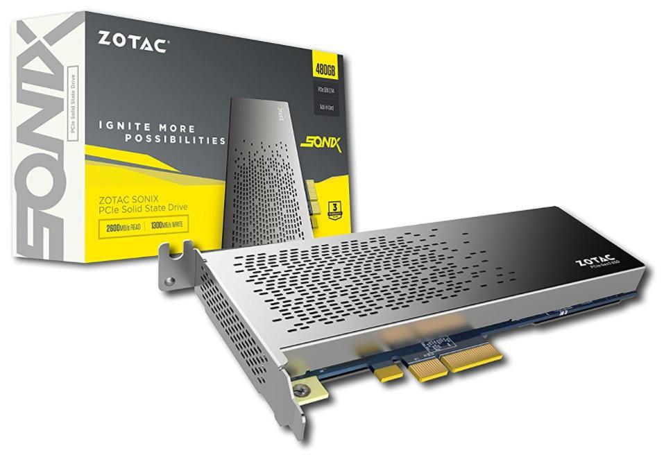 SSD interne PCIe NVME Zotac Sonix P3400 (mémoire MLC) - 480 Go