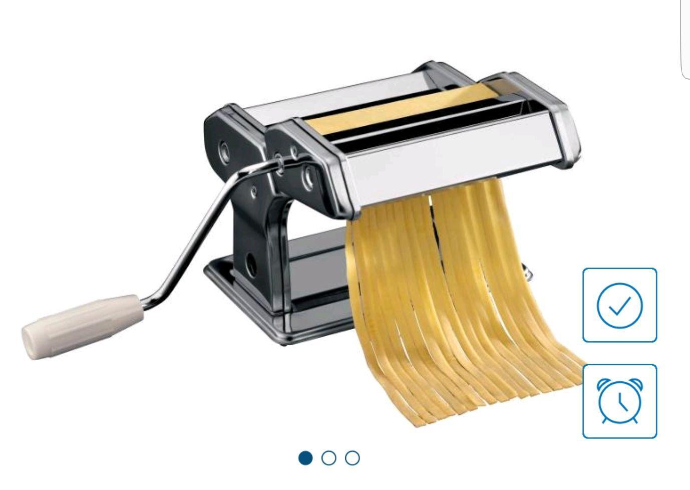 Machine à Pâtes - 20 x 14,5 x 21cm + 3 Rouleaux différents