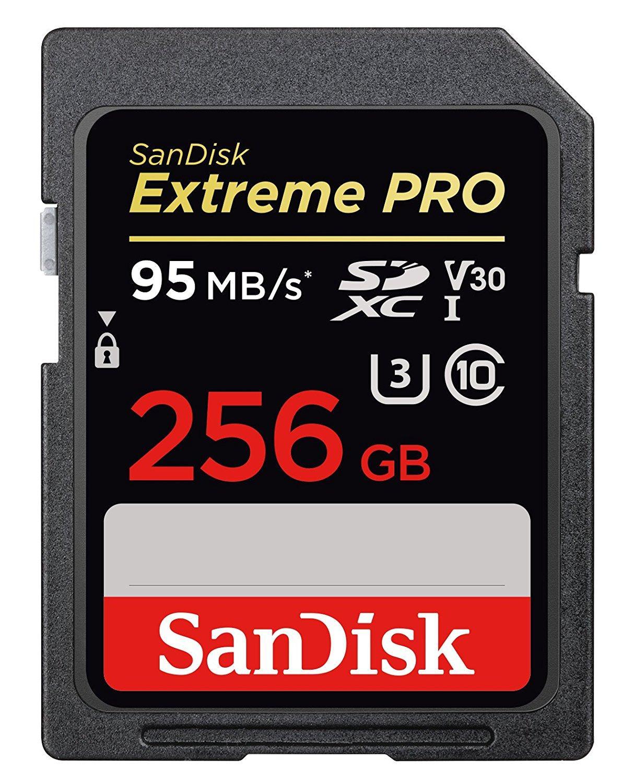 Carte mémoire SDXC Sandisk Extreme Pro UHS-I U3 V30 - 256 Go