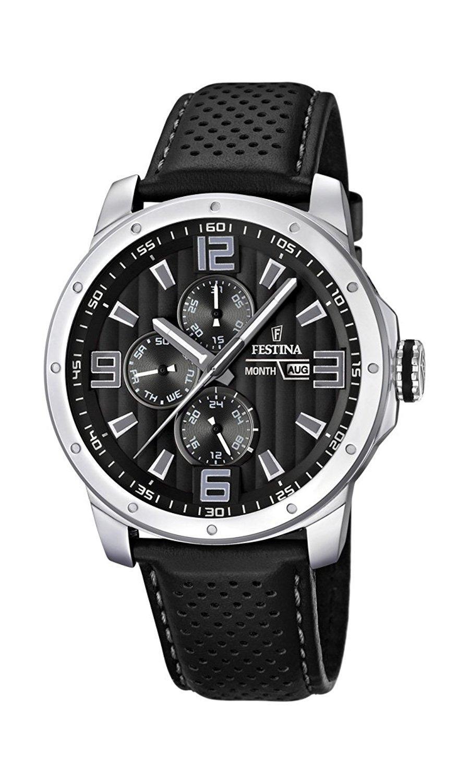 Montre homme Festina F16585/4 - Quartz analogique, bracelet en cuir