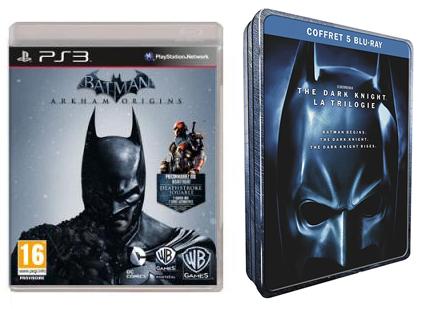 Batman Arkham Origins PS3 + Coffret Blu-ray Trilogie The Dark Knight