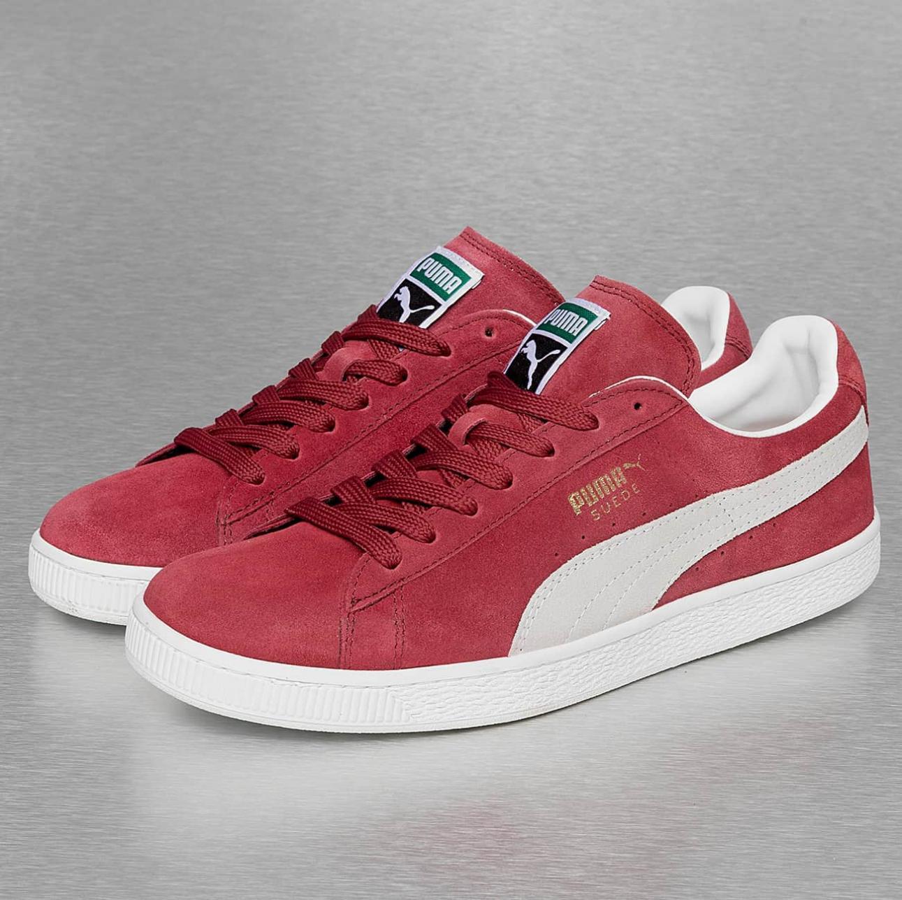 Sneakers Basses Mixte Puma Suede Classic+  - Rouge (du 38 au 48.5)