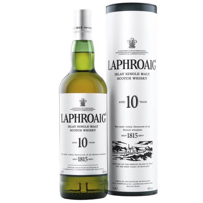 Bouteille de Whisky Laphroaig 10 ans d'âge - 70cl