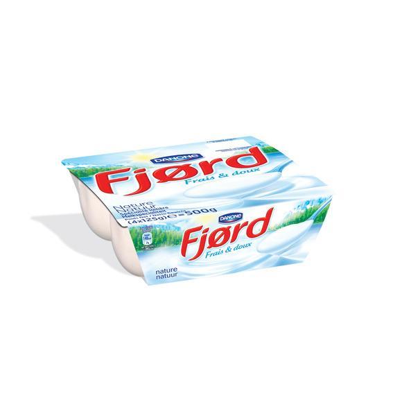 Pack de  4 Yaourts Fjord Danone -  125 gr (Via 1.40 € sur la carte et BDR)