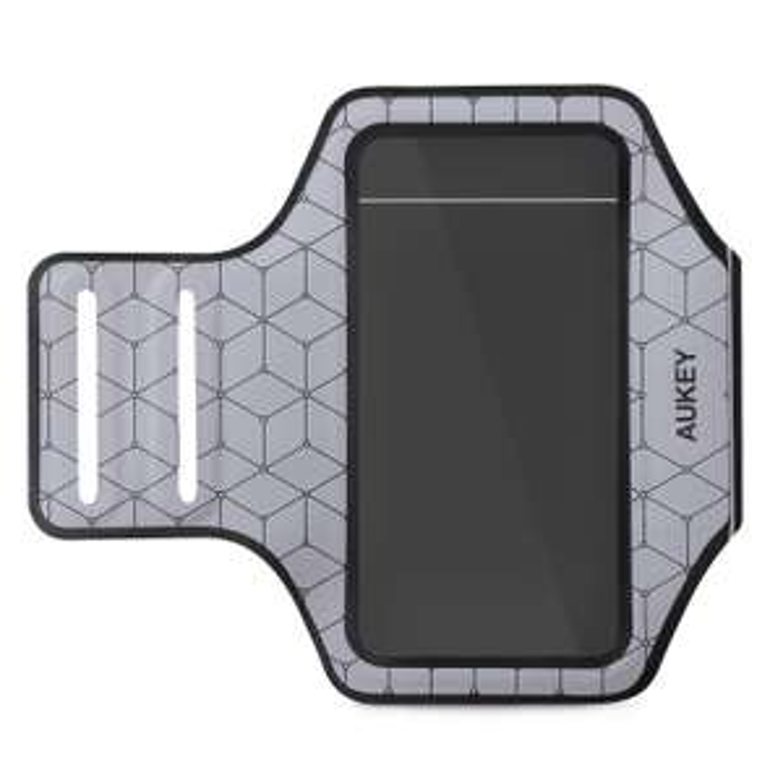 """Brassard de Sport Aukey PC-T8 pour Smartphones jusqu'à 4.7"""" - Argent"""