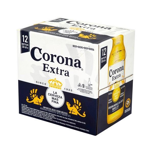Pack de 12 bières blondes Corona Extra - 35.5 cl