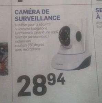 Caméra de surveillance Maxxter - HD, Wifi