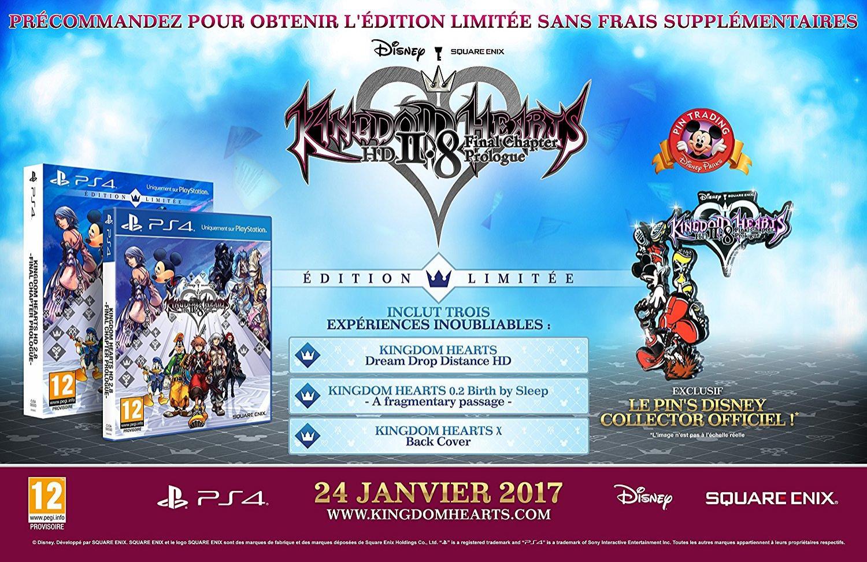 Jeu Kingdom Hearts HD 2.8 sur PS4 - Edition limitée