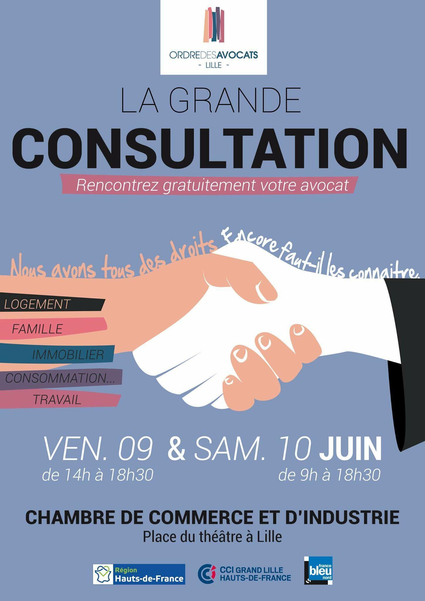 Consultation gratuite d'un avocat dans différentes villes des Hauts-de-France