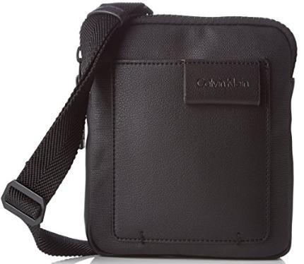 Sacoche Calvin Klein TY Mini Flat Crossover K50K502332 pour Hommes - Noir