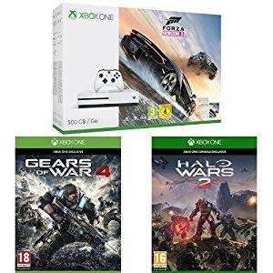 [Prime Jeune] Pack Console Xbox S 500Go Forza Horizon 3 + Gears of War 4 + Halo Wars 2